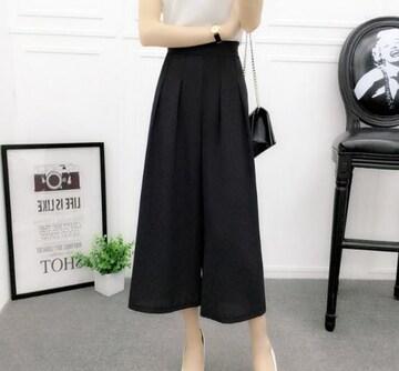 新品 新品 薄手スカンツ ブラック Lサイズ