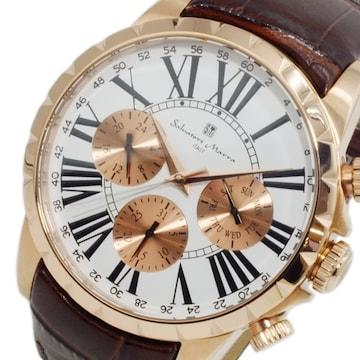 サルバトーレ マーラ クオーツ メンズ 腕時計 SM15103-PGWH