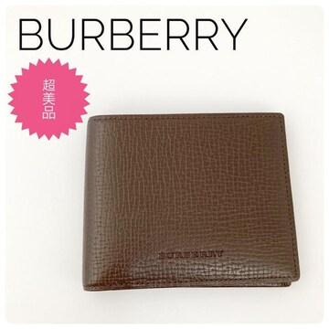 【超美品】BURBERRY レザー 二つ折り札入れ
