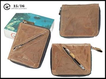 新品 フィフティンシクスティン1516 箱付き 皮 スナップ式財布-1