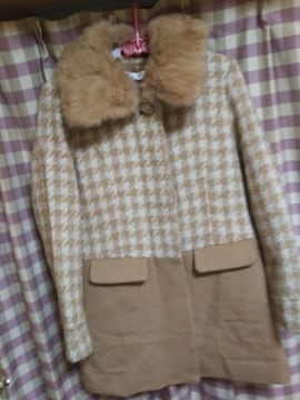 ★SIMPLE BEAUTY BASIC  ロングコート ファー脱着可 サイズL 同梱NG