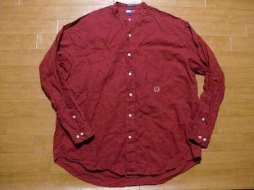90年代 トミーヒルフィガー ノーカラーシャツ USA−L