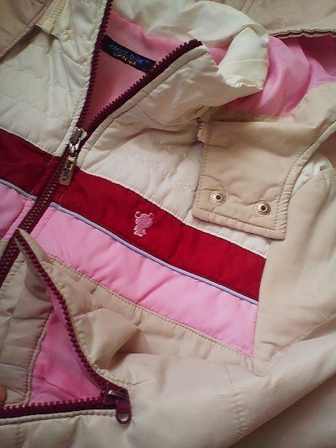 美品エンジェルブルーベージュ中綿ジャケット160  < ブランドの