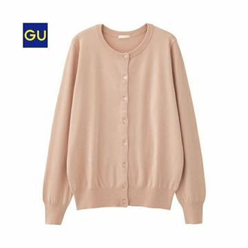 新品!GU☆クルーネックカーディガン XXL ピンク