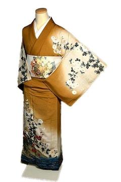 【最高級】美品 作家物 金彩 金駒刺繍 刺繍 手描き 付下げ T2126