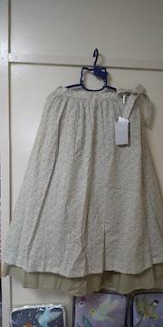 TSUHARUbyサマンサモスモス♪花柄2枚重ねスカート未使用品