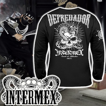 XXL 長袖 Tシャツ 服 メンズファッション ロンT 黒 ギャング バイカー チカーノ オラオラ 42