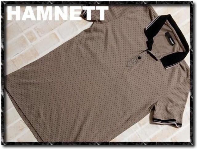 ハムネット 半袖カットポロシャツ 茶  < ブランドの