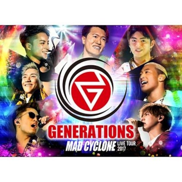 即決 GENERATIONS LIVE TOUR 2017 MAD CYCLONE 初回盤 Blu-ray  < タレントグッズの