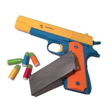 ガバメント タイプ 玩具 カラフル トイ ガン おもちゃ 鉄砲黄色
