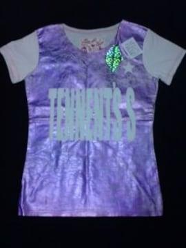 アッシュ&ダイヤモンドTシャツ ホットピンク箔プリント新品