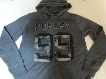 USA購入【hurley】ロゴプリント プルオーバー パーカーUS M 濃灰