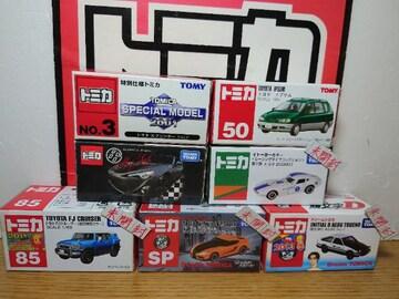 1スタ★トミカ7台トヨタ車セット★FJ/AE86&86/2000GT/イプサム/スープラ★