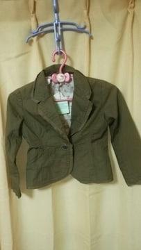 ★未使用 タグ付 オシャレデザイン ジャケット サイズ 120●