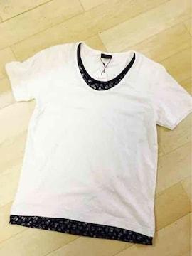 新品(^^)メンズレディース♪Mサイズ(^^)重ね着風Tシャツ(^^)