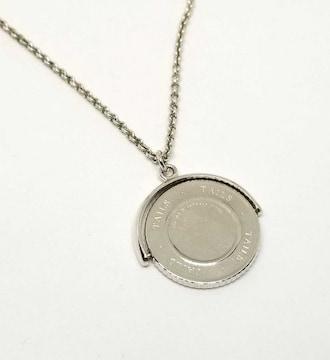 正規ティファニーネックレスHEADSTAILSコイン回転SV925ペンタ