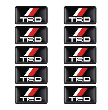 TRD立体エンブレムステッカー  10個