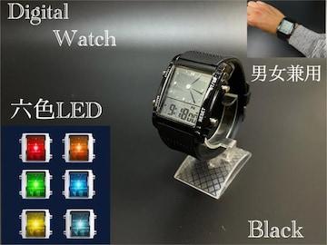 スポーツ腕時計 腕時計 時計 アナデジ式  LED デジタル