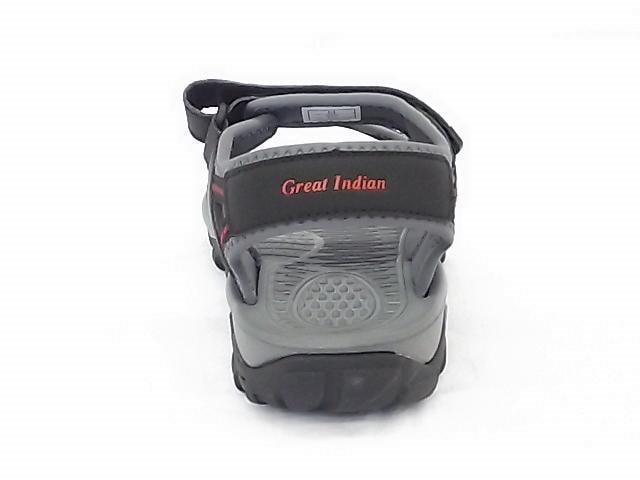 グレートインディアン 9808 ブラック Mサイズ スポーツサンダル < 男性ファッションの