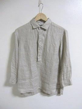 □EDIFICE/エディフィス 7分袖 シワ加工 デザイン シャツ/メンズ38