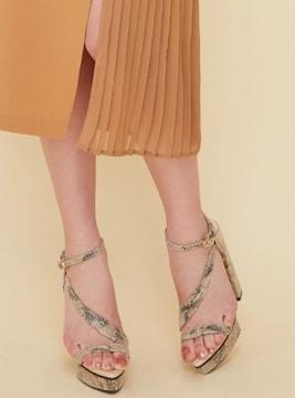 新品未使用リゼクシーハイヒールアシメサンダル女性レディース靴