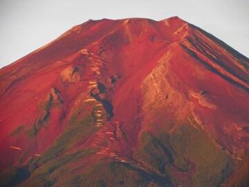 世界遺産 富士山 写真 紅富士 赤富士 A4又は2L版 額付き
