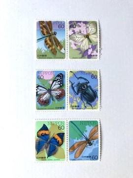 【送料無料】60円切手 (昆虫)