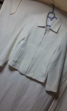 ★indio ジャケットコート 白 サイズM オシャレデザイン 気品★
