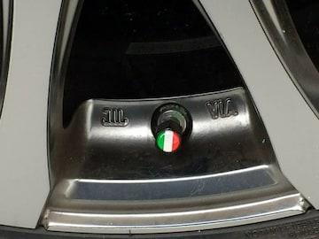 国旗柄 汎用 エアバルブ キャップ イタリア キーホルダー付