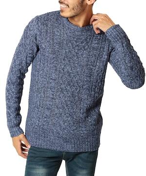 ニット セーター メンズ ニット 厚手 長袖  防寒 MI