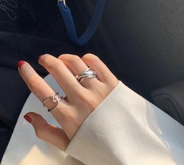 12☆即日発送☆2個セット 指輪☆クロス ペアリング フリーサイズ