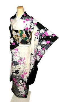 【最高級】新品同様 銀彩 牡丹文様 振袖・袋帯セット T1998