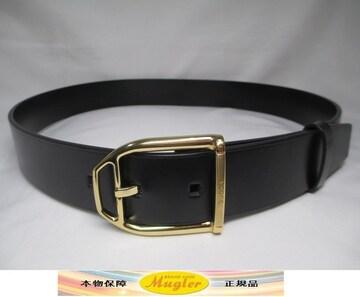 超美品 GUCCI グッチ メンズ ベルト 黒×ゴールド 本物