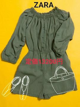 送料無料新品 定価13200円 ZARA オールインワン オフショルダー