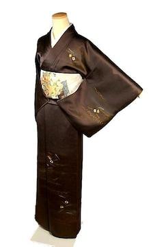 【最高級】美品 金彩 刺繍 松葉 梅 楓 付下げ T2195