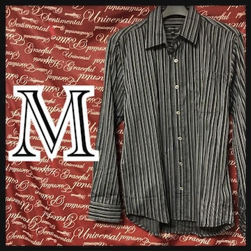 M・ストライプシャツ 新品/MC01P310-ne1