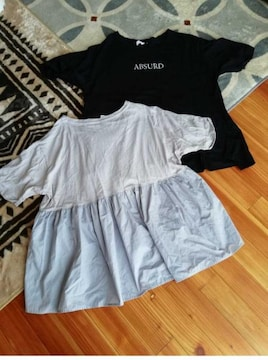 古着大きいサイズ4L Tシャツ 2着まとめて 同デザインサイズ 色違