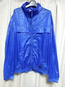 エックスガールx-girlワンポイントロゴ薄手ナイロンジャケットサイズ2青ブルーストリート中古服