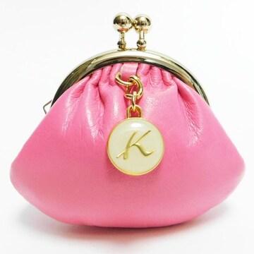 未使用 超美品キタムラ ガマ口コインケース  ピンク 良品 正規