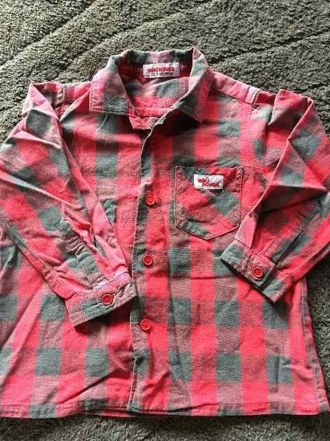 ミキハウス・ブロックチェックシャツ  < ブランドの
