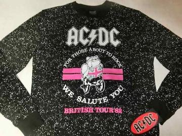 【AC/DC】【BRITISH TOUR' 82】薄手生地トレーナーUS S