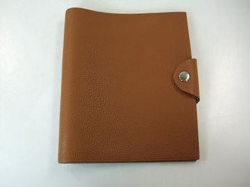 美品エルメスユリスMM 手帳カバー茶系