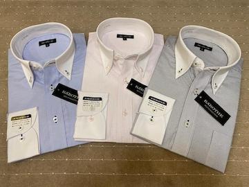 長袖ワイシャツ新品 クレリックA 3枚セットMサイズ