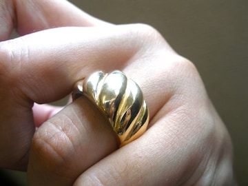 仁尾彫金『ゴールドしめ縄リング』ハンドメイド