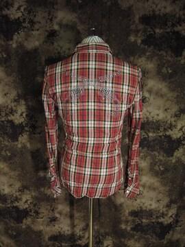 R&Co別注!!ロアーroar・二丁拳銃皺加工チェックシャツ