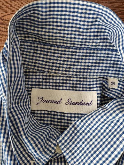 Journal Standard/七分袖ボタンダウンチャックシャツ/ブルー/M < ブランドの