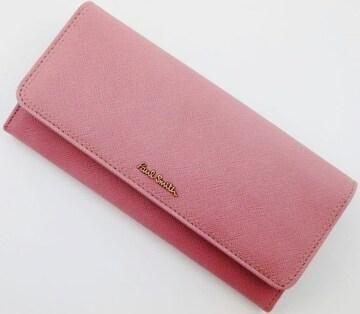 1点限定/新品 ポールスミス クロスグレイン 長財布 ピンク n106