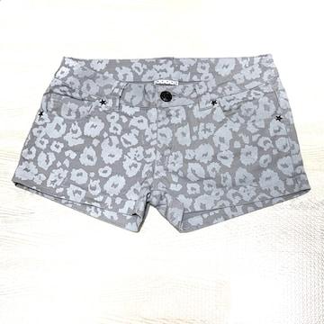 【美品】レオパード柄ショートパンツ/RASS-K/グレー/M