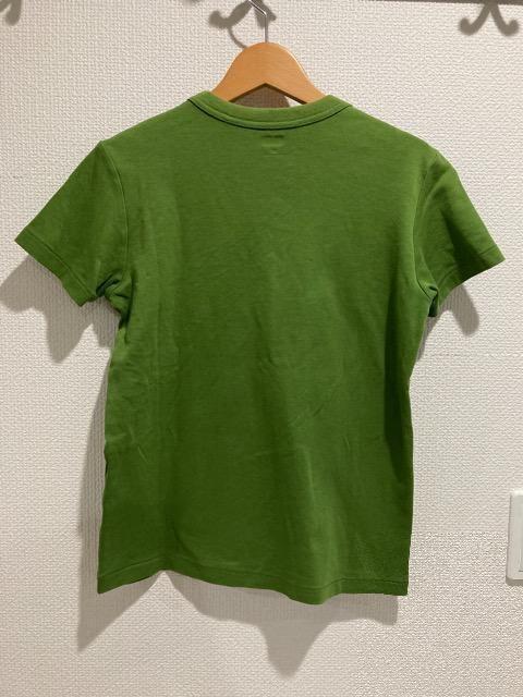 ユニクロ クルーネックt 半袖 トップス レディース M グリーン 緑 tシャツ GU < ブランドの