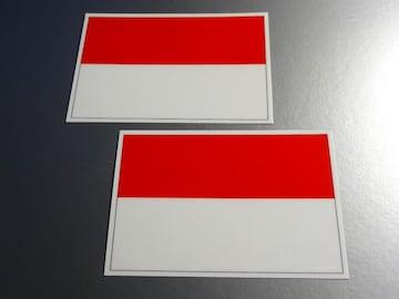 ■インドネシア国旗ステッカー2枚set
